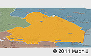 Political Panoramic Map of Drenthe, semi-desaturated