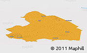 Political Panoramic Map of Drenthe, single color outside