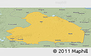 Savanna Style Panoramic Map of Drenthe