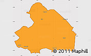 Political Simple Map of Drenthe, cropped outside