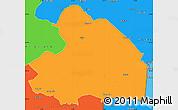 Political Simple Map of Drenthe