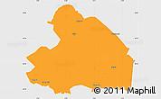 Political Simple Map of Drenthe, single color outside