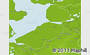 Physical 3D Map of Flevoland