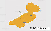 Political 3D Map of Flevoland, cropped outside
