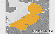Political 3D Map of Flevoland, desaturated