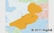 Political 3D Map of Flevoland, lighten