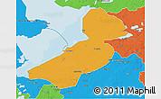Political 3D Map of Flevoland