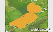 Political 3D Map of Flevoland, satellite outside