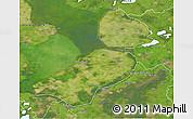 Satellite 3D Map of Flevoland