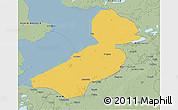 Savanna Style 3D Map of Flevoland