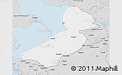 Silver Style 3D Map of Flevoland