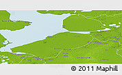 Physical Panoramic Map of Flevoland
