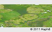 Satellite Panoramic Map of Flevoland