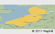 Savanna Style Panoramic Map of Flevoland