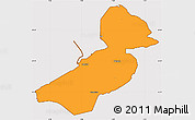 Political Simple Map of Flevoland, cropped outside