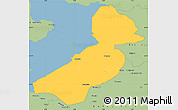 Savanna Style Simple Map of Flevoland