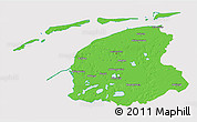 Political 3D Map of Friesland, cropped outside