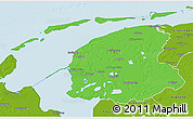 Political 3D Map of Friesland, physical outside