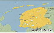 Savanna Style 3D Map of Friesland