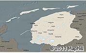 Shaded Relief 3D Map of Friesland, darken