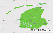Political Map of Friesland, cropped outside