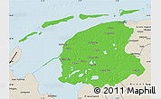 Political Map of Friesland, shaded relief outside