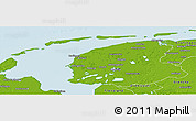 Physical Panoramic Map of Friesland