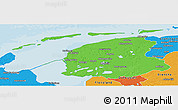 Political Panoramic Map of Friesland