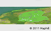 Political Panoramic Map of Friesland, satellite outside