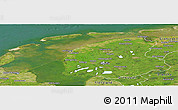 Satellite Panoramic Map of Friesland