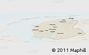 Shaded Relief Panoramic Map of Friesland, lighten