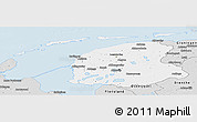 Silver Style Panoramic Map of Friesland