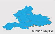 Political 3D Map of Gelderland, cropped outside