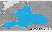 Political 3D Map of Gelderland, desaturated