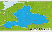 Political 3D Map of Gelderland, physical outside