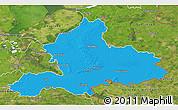 Political 3D Map of Gelderland, satellite outside