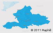 Political 3D Map of Gelderland, single color outside
