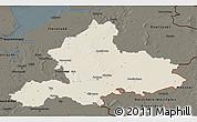 Shaded Relief 3D Map of Gelderland, darken