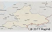 Shaded Relief 3D Map of Gelderland, semi-desaturated