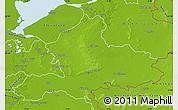 Physical Map of Gelderland