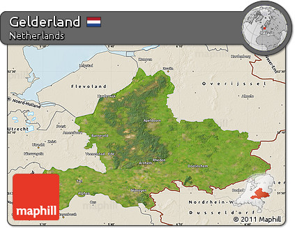 Free Satellite Map of Gelderland shaded relief outside