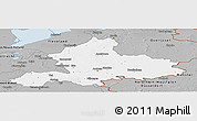 Gray Panoramic Map of Gelderland