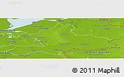 Physical Panoramic Map of Gelderland