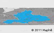 Political Panoramic Map of Gelderland, desaturated
