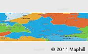 Political Panoramic Map of Gelderland