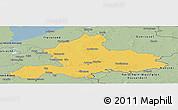 Savanna Style Panoramic Map of Gelderland