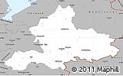 Gray Simple Map of Gelderland