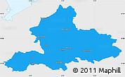 Political Simple Map of Gelderland, single color outside