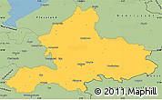 Savanna Style Simple Map of Gelderland