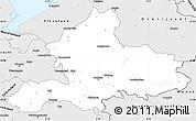 Silver Style Simple Map of Gelderland